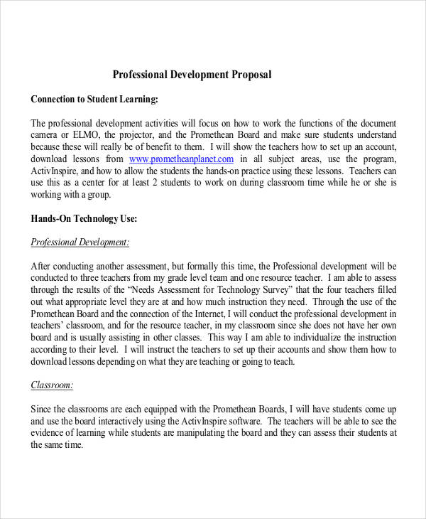 professional development proposal2