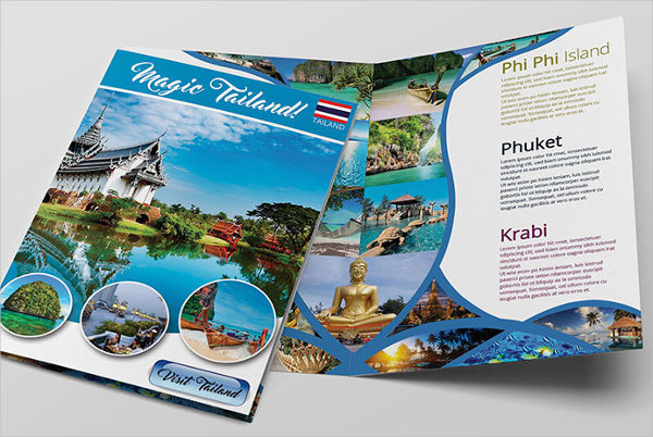 professional travel business brochure