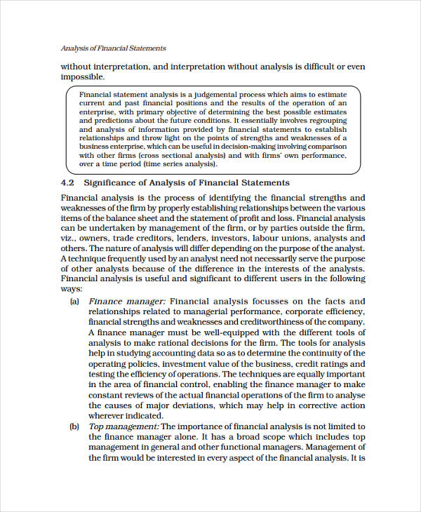 profit and loss statement analysis