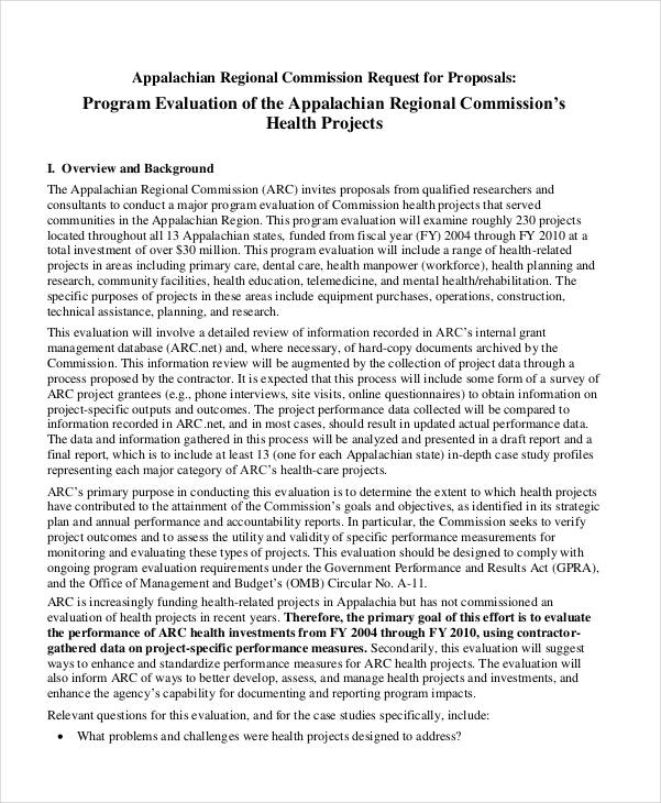 program evaluation proposal