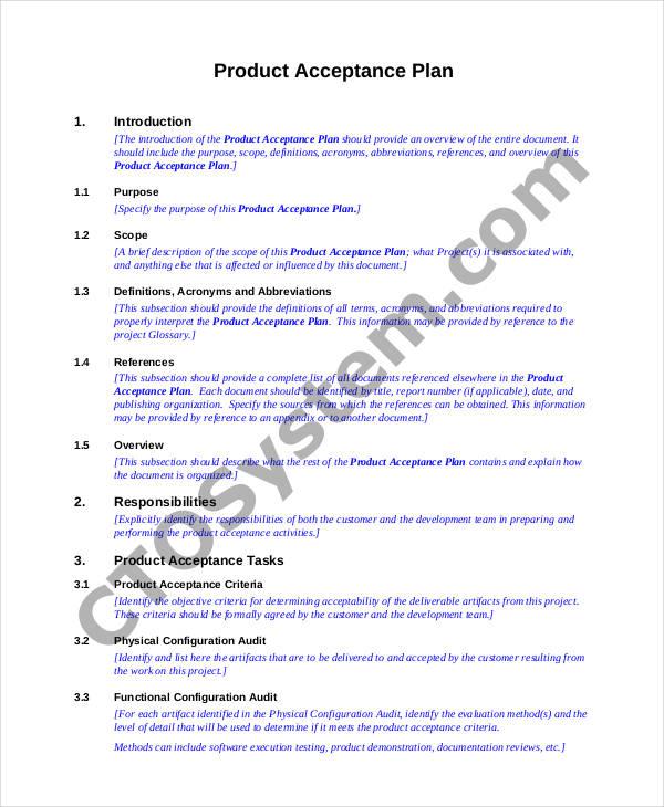project acceptance plan1