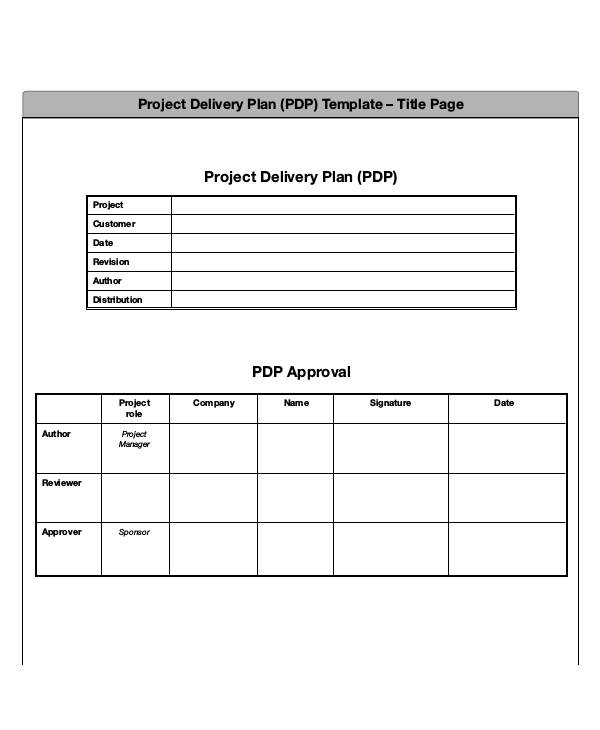 project delivery plan