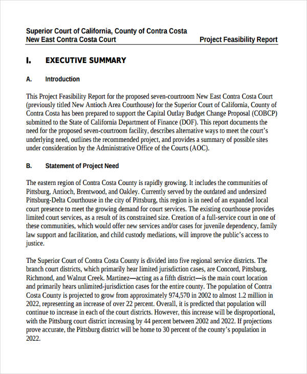 Feasibility Report Examples Samples