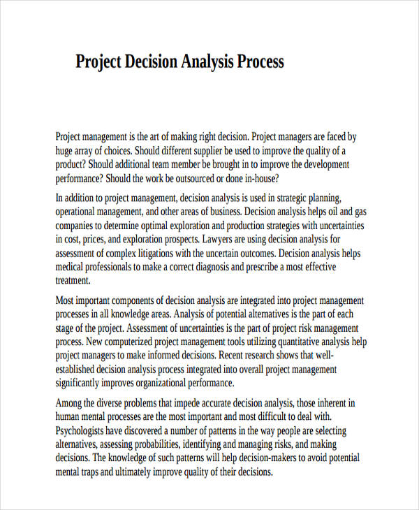 Process Analysis Examples  Samples