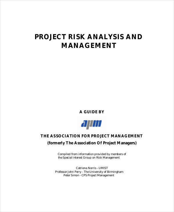 Risk Analysis Examples Samples