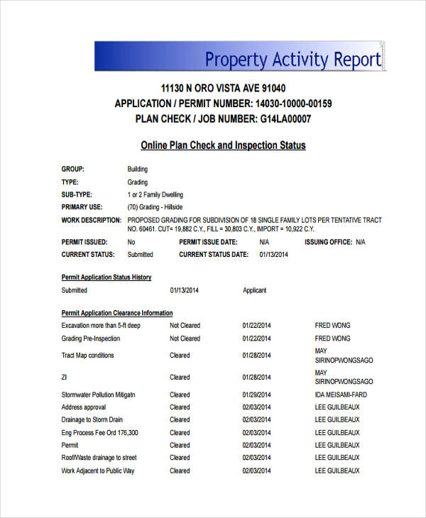 property activity
