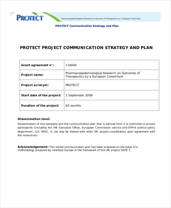 protect strategic communication plan