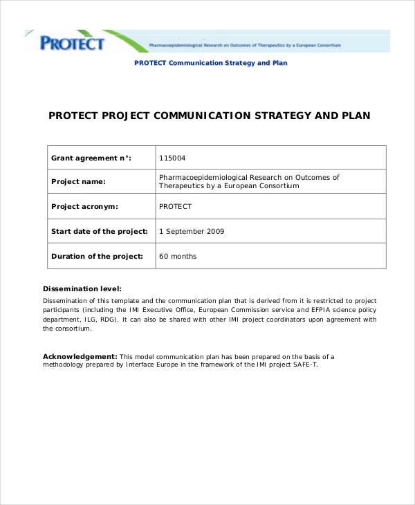 protect strategic communication plan
