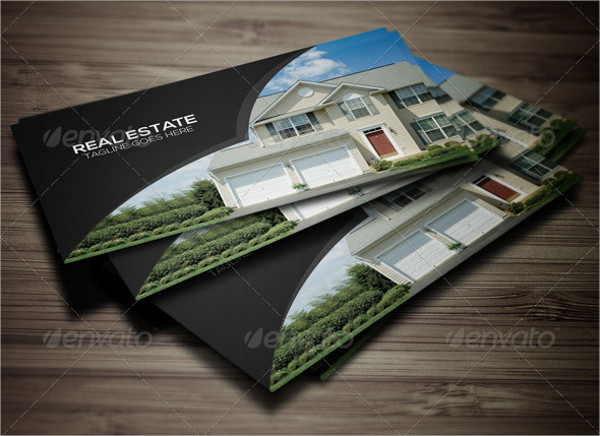 real estate advertising business card