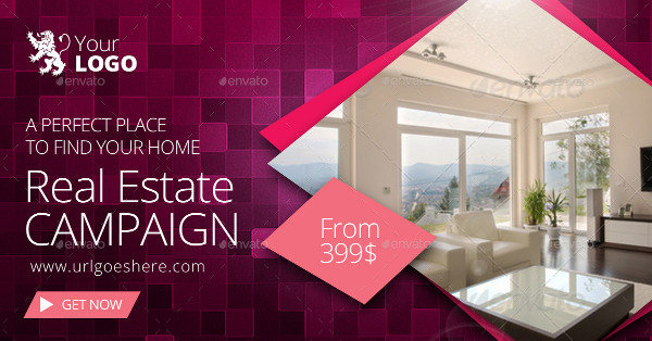 real estate advertising web banner