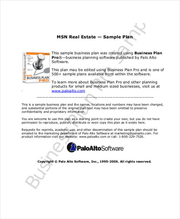 Real Estate Sales Marketing Plan