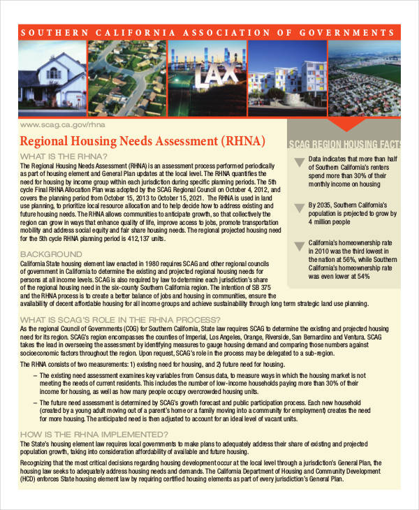 Regional Housing Assessment