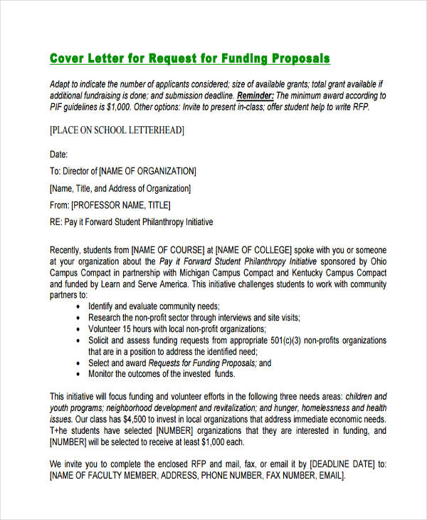request letter for funding
