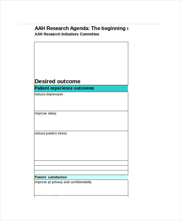 Research Agenda Template Research Meeting Agenda Agenda Templates