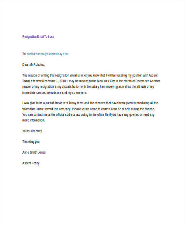 resignation email sample koni polycode co