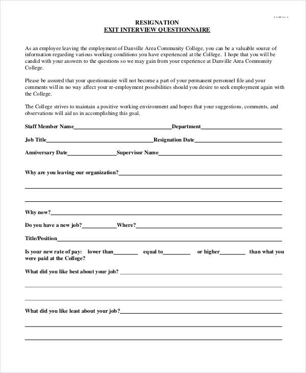 employee exit interview questions template.html