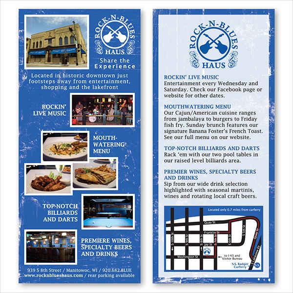 restaurant menu rack card1