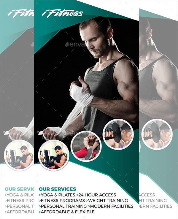 roll up fitness advertising banner