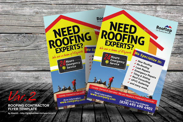 roofing contractor advertising flyer