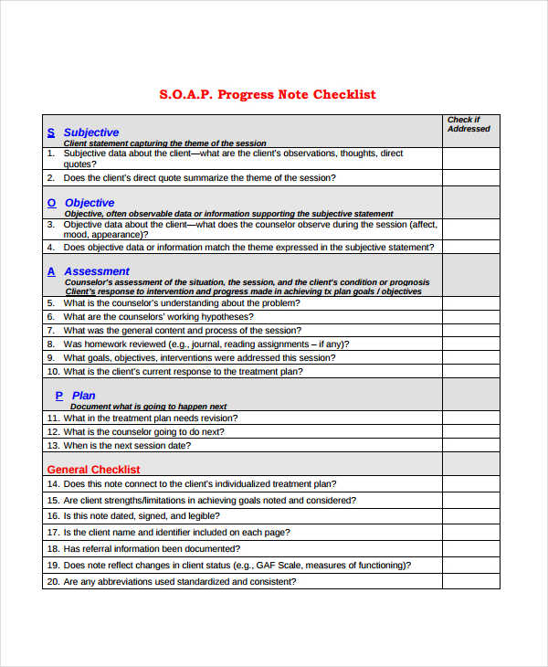 19 progress note examples samples pdf doc