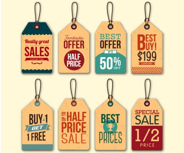 sale hang tag design