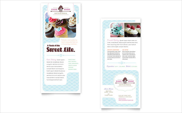 sales marketing rack card