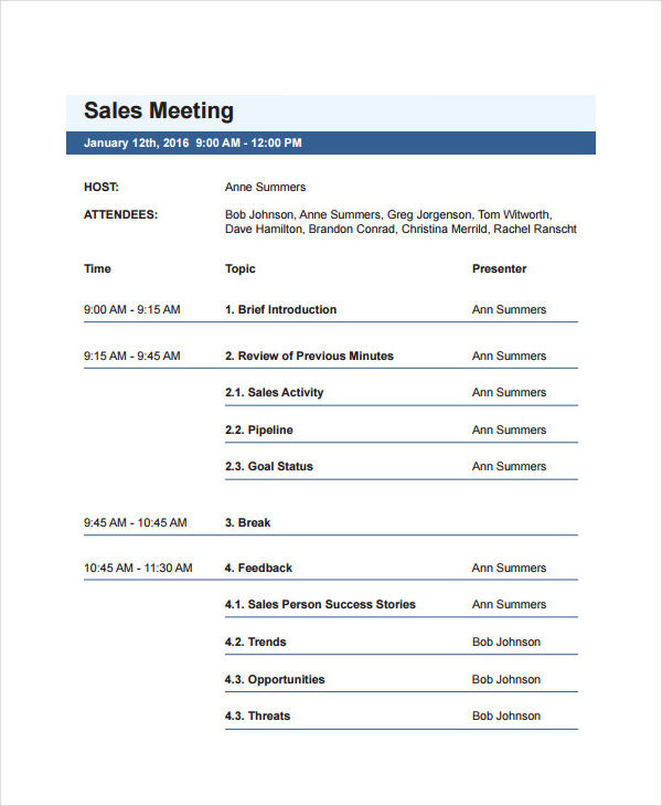 sales meeting agenda1