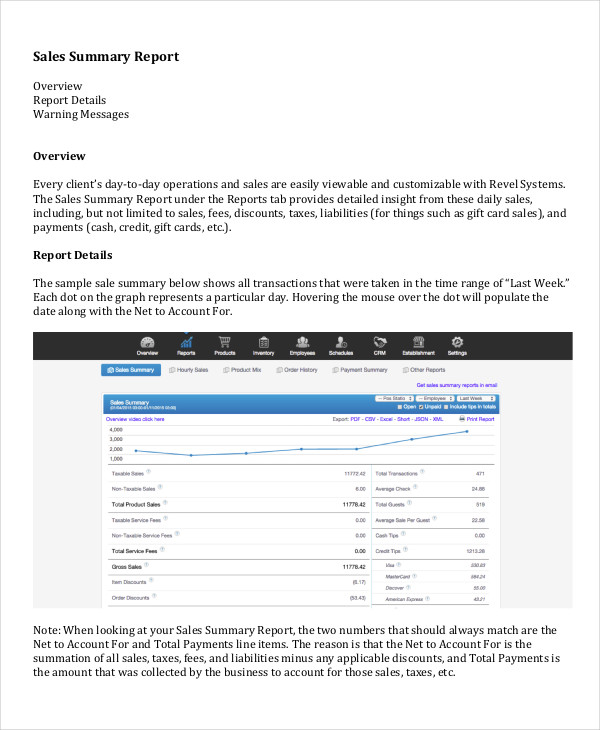 13+ Sales Report Example & Samples - PDF, Word, Pages