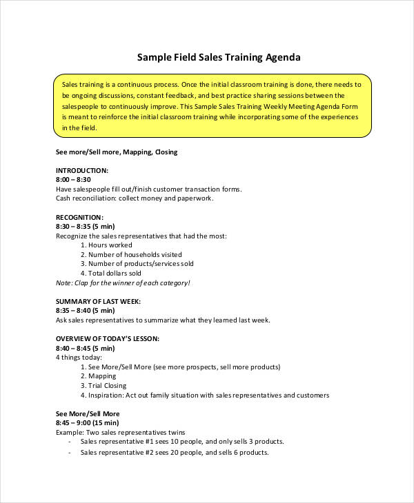 Sales Training Template  Resume Ideas  NamanasaCom