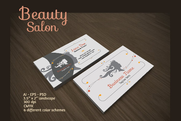 salon name card vector