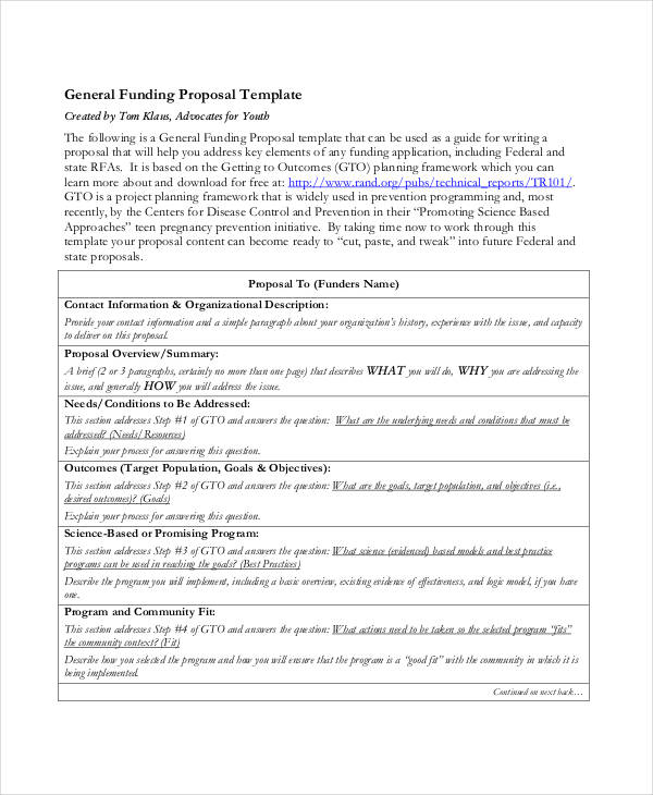 sample funding proposal1