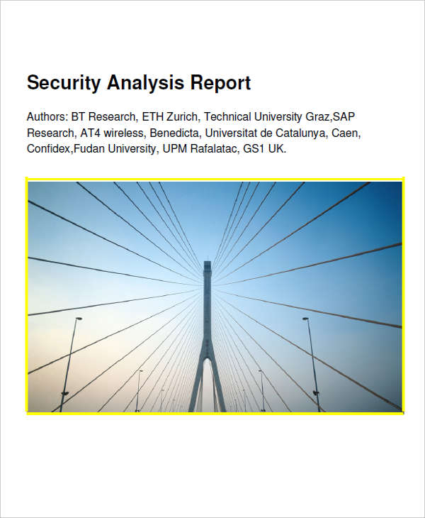 sample security analysis