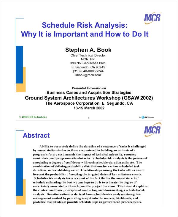 schedule risk