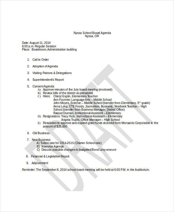school board agenda1