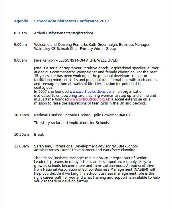 school conference agenda1