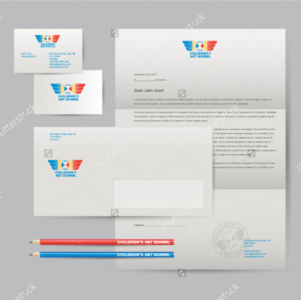 School Letterhead Design Vector