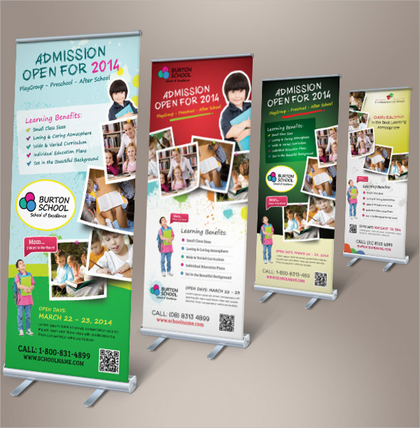 school promotional banner design