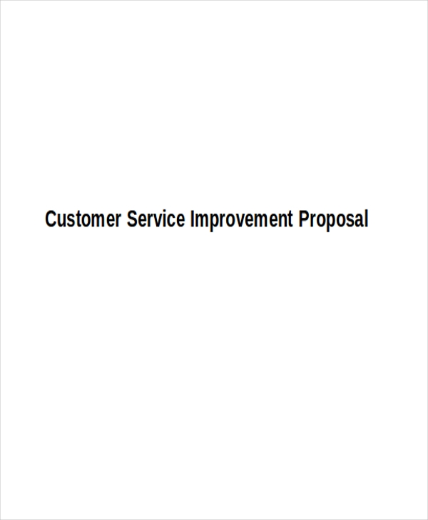 service improvement proposal1