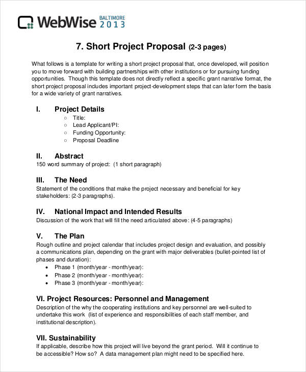 36 simple proposal formats examples pdf doc pages for Writing a proposal for a new position template