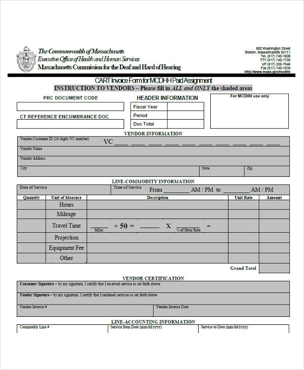 30 invoice forms examples samples small business form wajeb Image collections