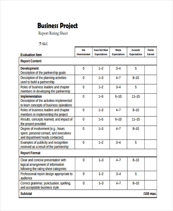 small business project report