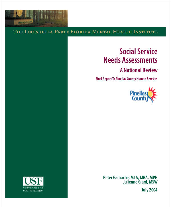 Social Service Needs Sample