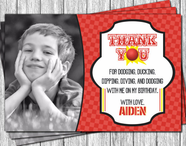 30 thank you card designs and examples sports birthday thank you card bookmarktalkfo Gallery