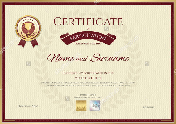 sports certificate design