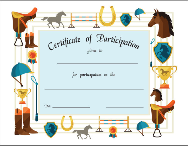 7 achievement certificates examples samples sports participation certificate sample yelopaper Image collections