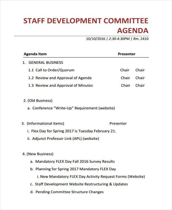 staff agenda1