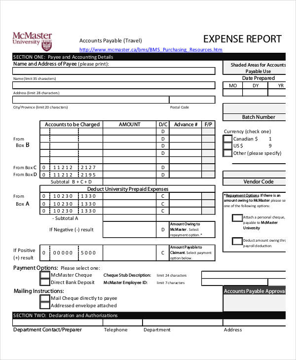 23+ Examples of Expense Reports