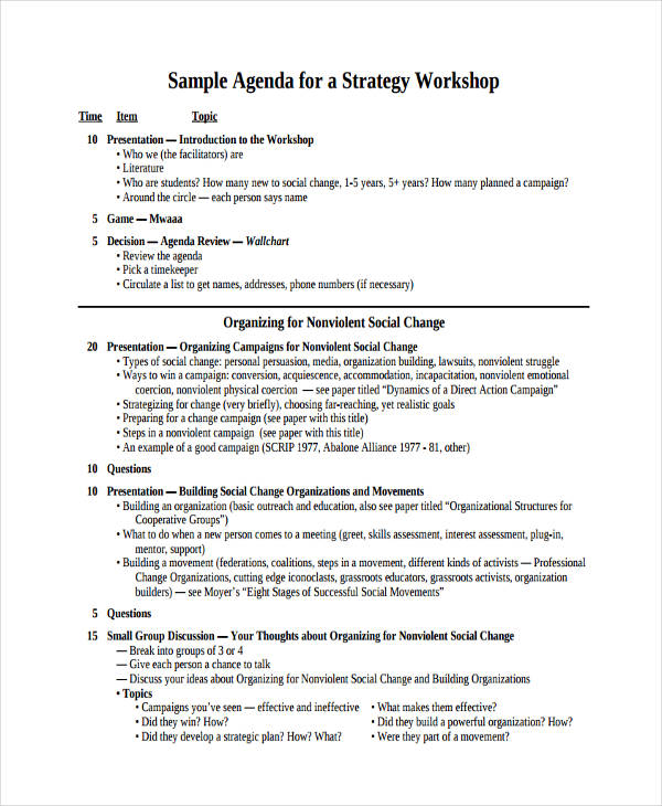 strategy workshop