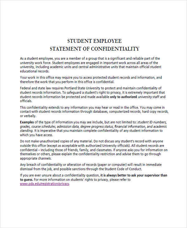 17+ Examples Of Employee Statements