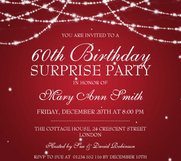 -Surprise Birthday Invitation